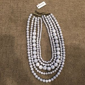 BaubleBar Marble Beaded Necklace